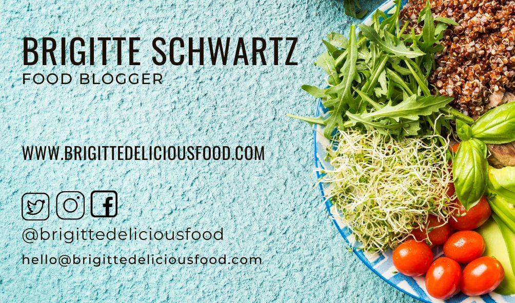kartu nama food blogger