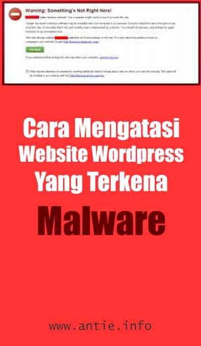 mengatasi website kena malware