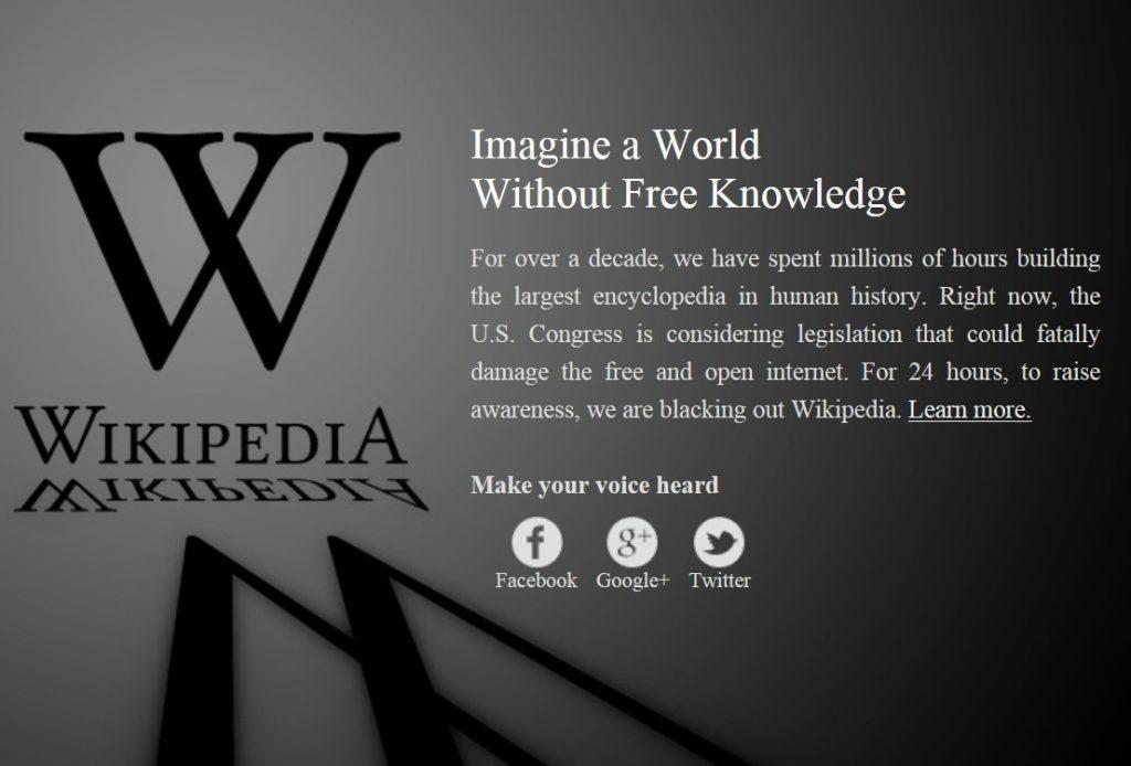 Wikipedia Protes RUU SOPA PIPA