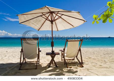 sitting relax on beach