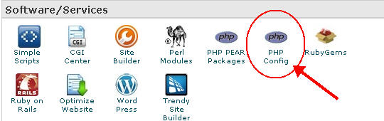 php config