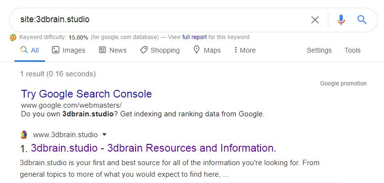 Mengecek Google Index