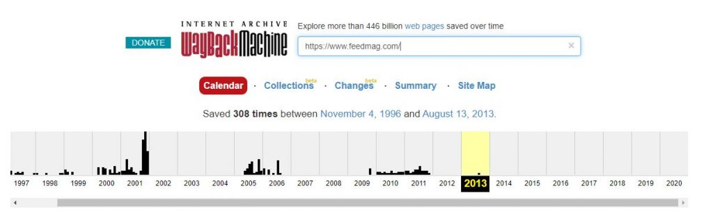 Wayback Machine Snapshot Website
