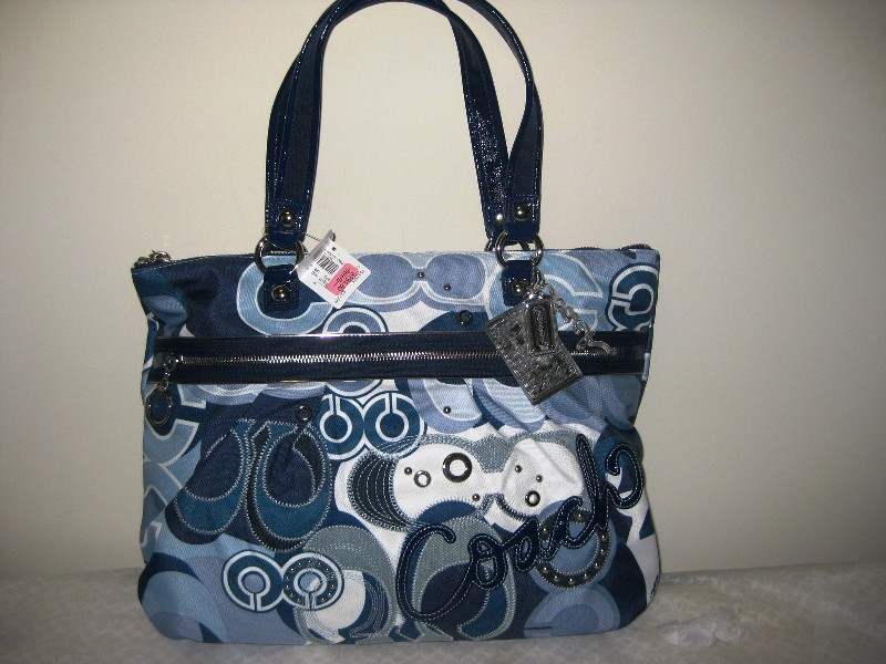 Tas Coach Bag Poppy Pop C Denim 2