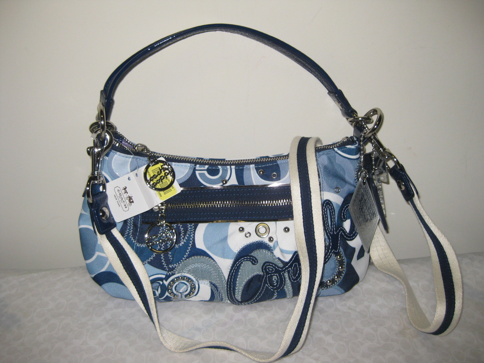 Tas Coach Blue Jean Poppy Pop C Denim Groovy Handbag 1