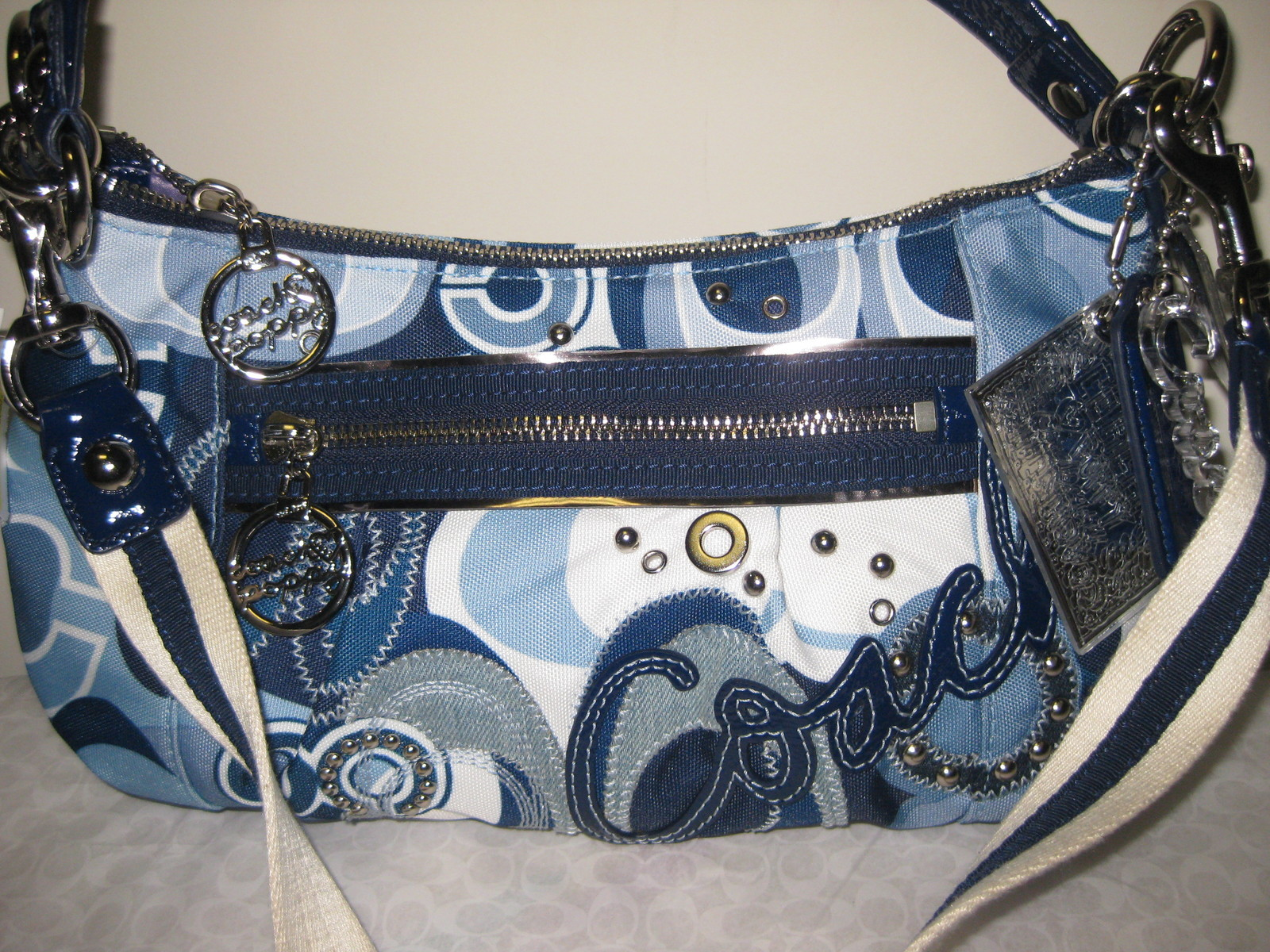 Tas Coach Blue Jean Poppy Pop C Denim Groovy Handbag 2