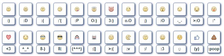 Facebook Emoticon Shotcode