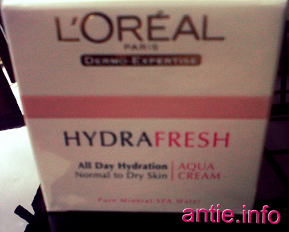 Loreal Hydrafresh Aqua Cream