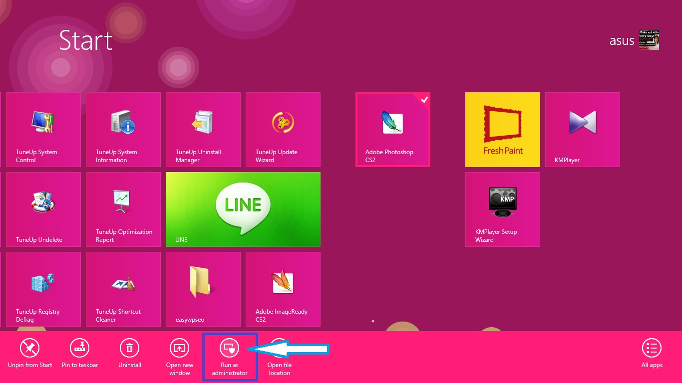 Photoshop Windows 8
