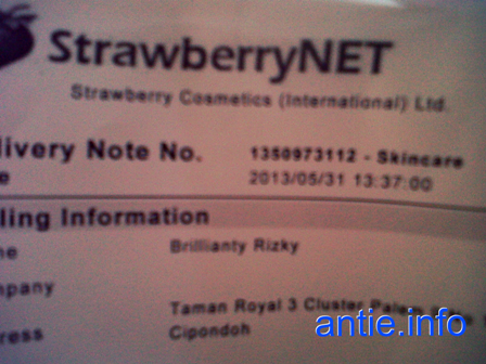 StrawberryNet Invoice