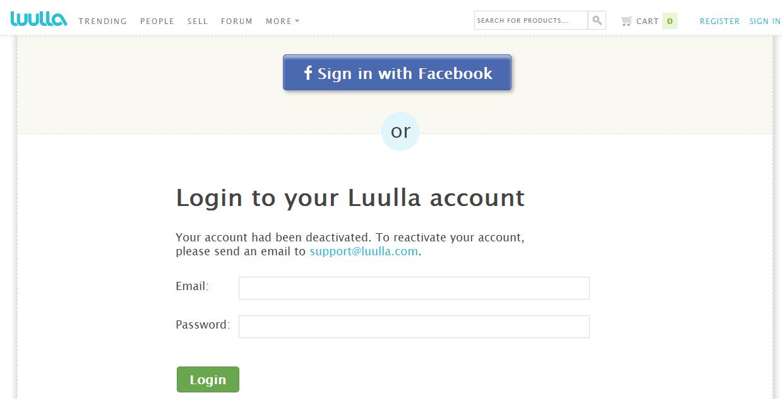 luulla deactivated