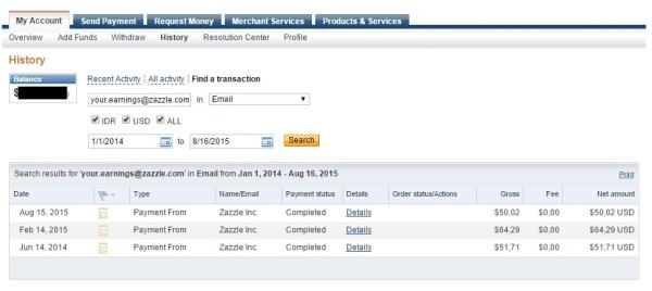 Zazzle Payment