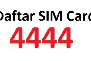 gagal daftar sim card 4444