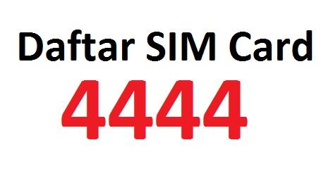 pengalaman gagal daftar sim card 4444