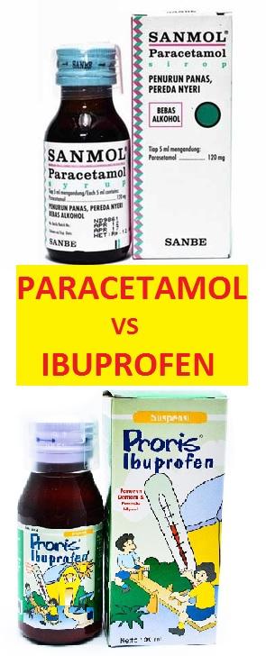 paracetamol vs ibuprofen