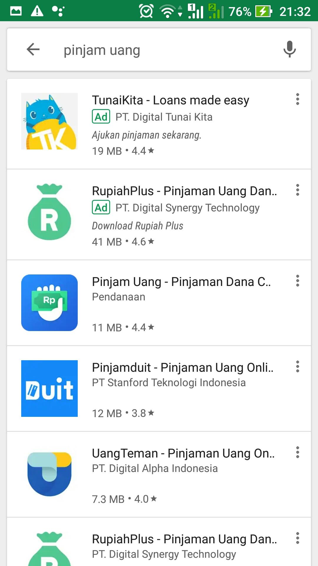 aplikasi pinjaman dana di google play store