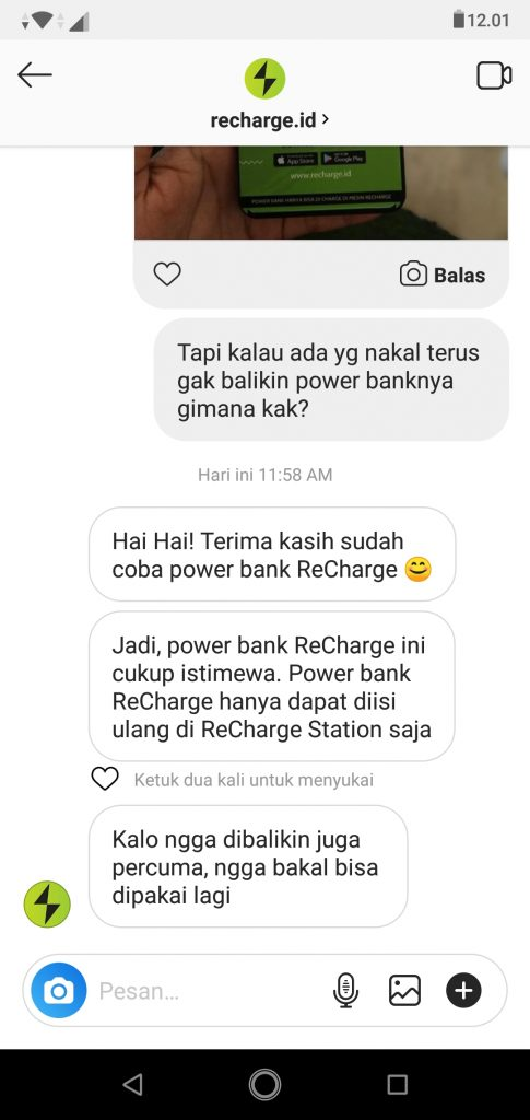 power bank recharge dicuri