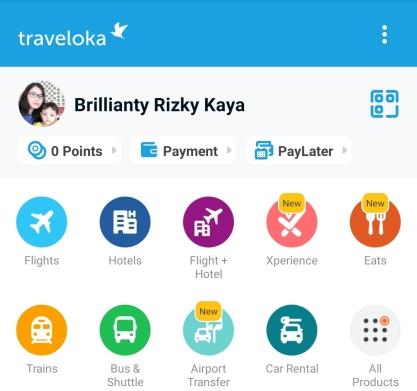 aplikasi traveloka xperience