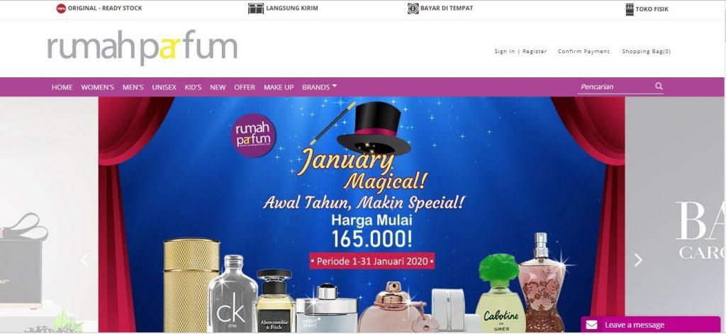 Website Rumah Parfum Online