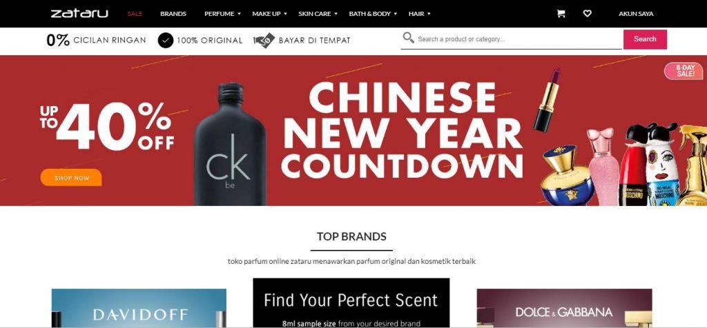 Website SZataru Jual Parfum Online