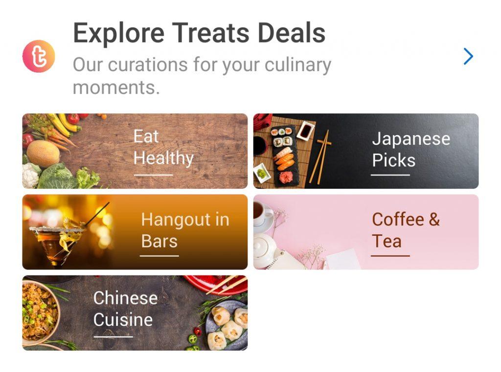 Treats by Traveloka Berdasarkan Jenis Makanan