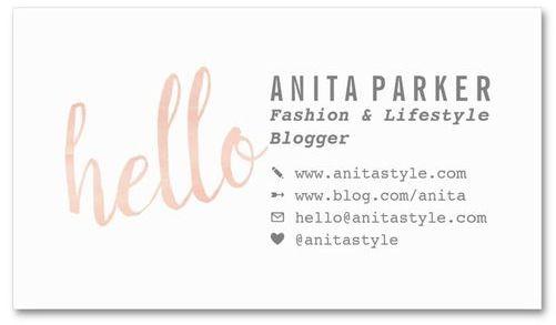kartu nama fashion blogger