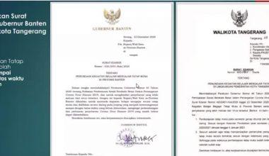 Surat Edaran Pembelajaran Tatap Muka di Sekolah dari Gubernur Banten dan Walikota Tangerang