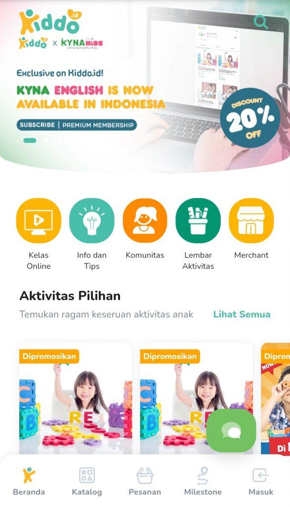 Aplikasi Tempat Les Kursus Untuk Anak Kiddo